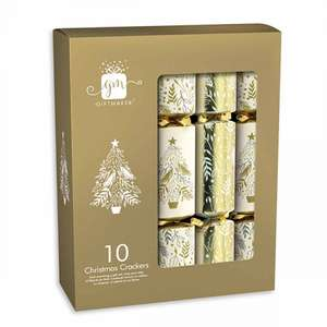 Assorted Christmas Crackers Pack of 10, £2.99 with FREE click and collect @ Rymans