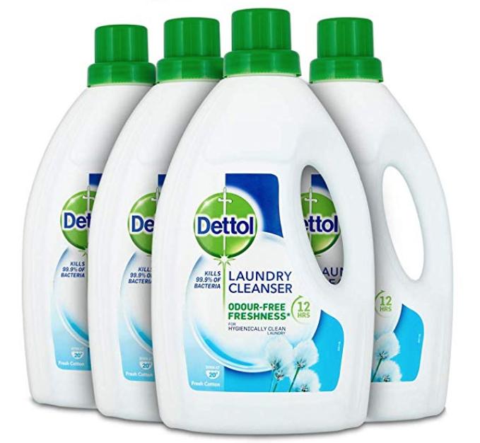Dettol Antibacterial laundry cleanser Fresh Cotton, Multipack of 4 x 1.5 Litre £9.99 prime / £14.48 non prime @ Amazon