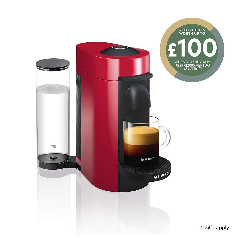 Nespresso Vertuo Plus Special Edition Coffee Capsule Machine by Magimix - Piano Red £79 @ Amazon
