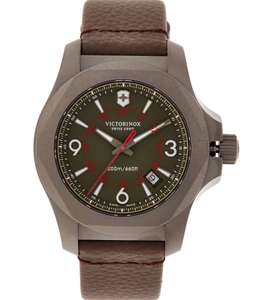 Victorinox Titanium On Leather and Sapphire Crystal, Inox watch @ TkMaxx £249.99