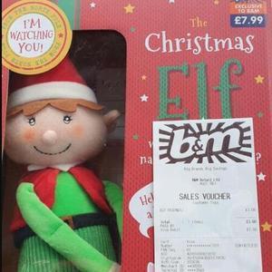 The Christmas Elf scanning at £3 @ B&M Basingstoke