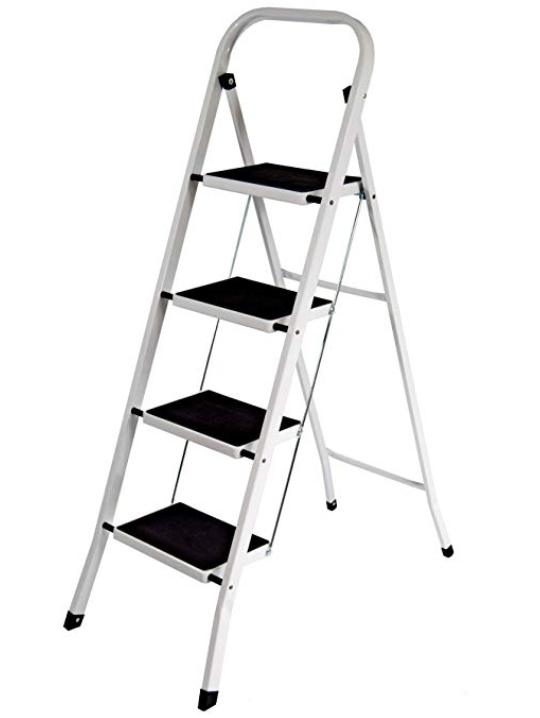 Home Discount 4 Step Steel Ladder £19.99 prime / £24.48 non prime @ Amazon
