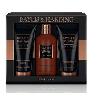 Baylis & Harding Grooming Trio, Black Pepper and Ginseng £13.03 (PRime) £17.52 (Non Prime) @ Amazon