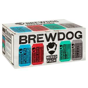 BrewDog Mixed Beer Can Pack 24 x 330ml £16 @ Sainsburys