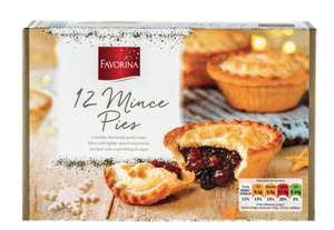 12 Favorina Mince Pies £1.29 at Lidl
