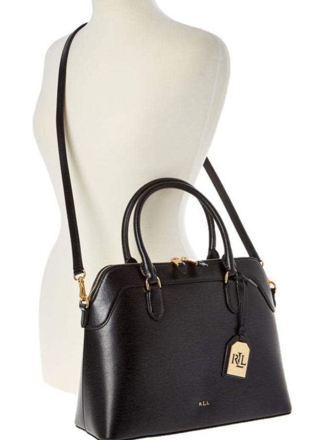 Black Ralph Lauren Black Leather Nora Satchel Bag £129.99 @ TK Maxx