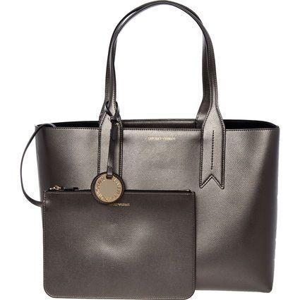 EMPORIO ARMANI Steel Grey Faux Leather Tote Bag 2 pieces £89.99 delivered @ Tk Maxx