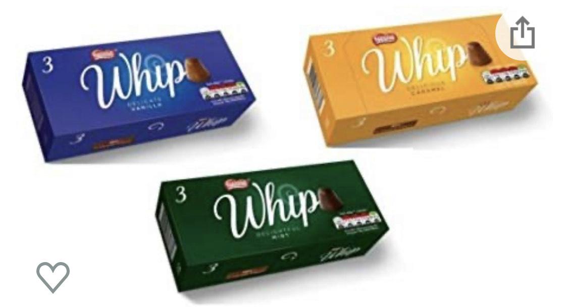 Nestle whips 3 pack 50p Poundland