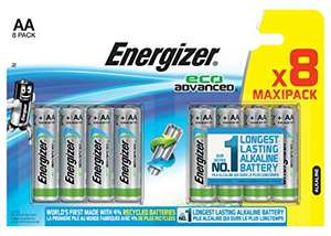 8 Energizer AA or AAA batteries Eco Advanced £2 instore at Sainsbury's Newbury Town Centre