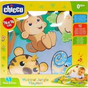 CHICCO Multicolour Musical Jungle Playmat 76x76cm £13.00 +£1.99 click and collect @ Tk Maxx