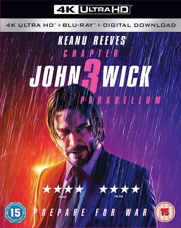 John Wick: Chapter 3 - Parabellum 4K [2019] for £14.99 Prime/+£2.99 Non Prime @ Amazon UK