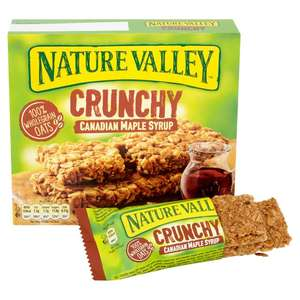 Nature Valley Crunchy granola Canadian maple, Oats & Chocolate, Oats & honey bars 5pack (10 bars) £1.20 @ Morrisons