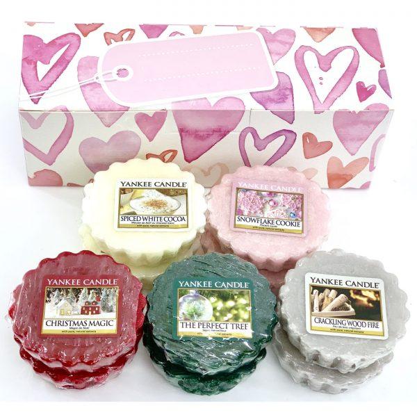 Yankee Candle Hearts Gift Box Contains 10 Christmas Wax Melts £8 Yankee Bundles