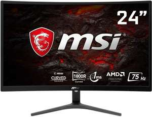 MSI Optix G241VC Curved Gaming Monitor 23.6 Inch, Full HD, VA, 75 Hz £99 Amazon