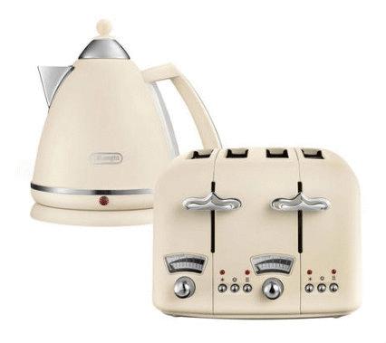 De'Longhi Argento Kettles or Argento 4-slice Toasters (Beige / Blue / Green / Pink) - £29.99 each @ Argos