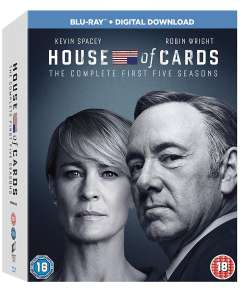 [Blu-ray] House of Cards: Seasons 1-5 (Box Set With Digital Download) £11.52 @ Zoom (Using code)