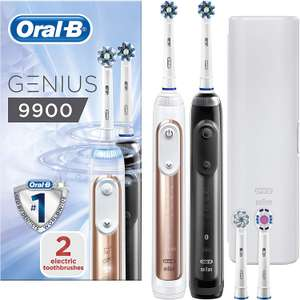 Oral-B Genius 9900 Duo Pack Set of 2 Electric Rechargeable Toothbrushes only £124.99 @ Amazon.co.uk