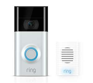 Ring 2 Doorbell with Chime and spare battery - £156.91 Delivered @ QVC