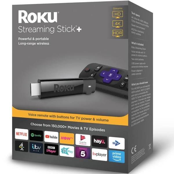Roku Streaming Stick+   HD/4K/HDR Streaming Media Player £29 at Amazon