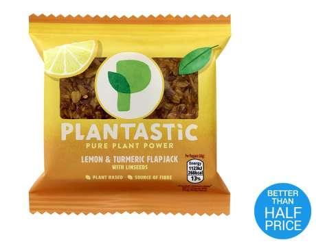 PlantasticFlapjack ( 4 varieties) £1.35 @ Tesco express (0.35p via Checkoutsmart after cashback)