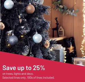Up to 25% off Christmas Trees and Decorations at Argos