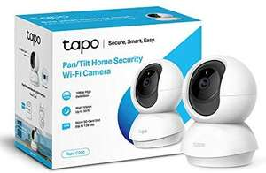 TP-Link indoor 360° home security camera / baby monitor - night vision & SD card storage - Tapo C200 - £24.99 @ Amazon