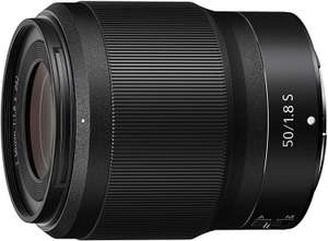 Nikon Nikkor Z 50MM F/1.8 S Full Size Lens for Nikon Z S Series FX/35mm Black [Nital Card: 4 Year Warranty] £349 @ Amazon