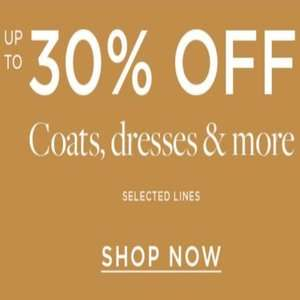 Up to 30% off selected winter styles at Dorothy Perkins