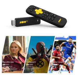 NOW TV Smart Stick with 1 month Entertainment 1 month Sky Cinema and 1 day Sky Sports £15 @ Tesco