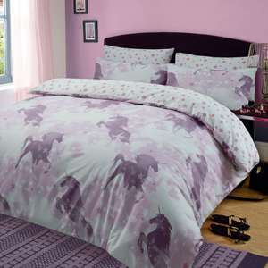 Dreamscene Unicorn Dream Duvet Set - Single £8.98 / Double £11.98 / King £12.98 Delivered @ Onlinehomeshop