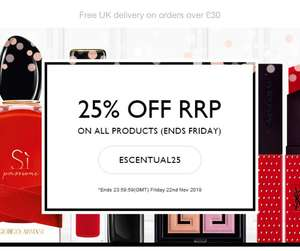 25% off RRP at Escentual