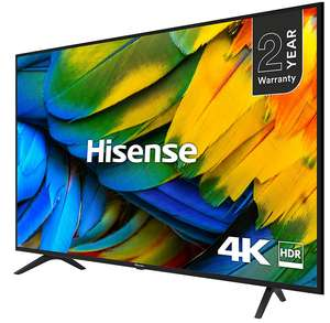 """Hisense H43B7100UK 43"""" Smart 4K Ultra HD TV with HDR10 and DTS Studio Sound, bluethooth + 2 Year Warranty - £249 delivered @ AO"""