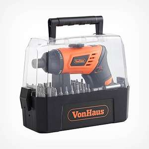 Rose Gold Cordless Screwdriver & Bit Set £14.99 Delivered @ Vonhaus