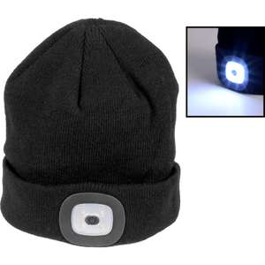 LED Headlight Beanie 150lm Black - £4.99 @ Toolstation (Free Collection)