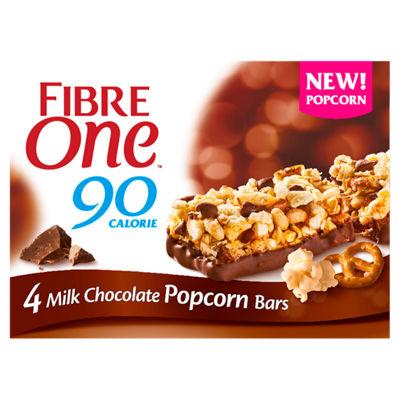 Fibre One Bars choc popcorn, peanut butter popcorn, carrot cake & triple choc £1 @ Asda