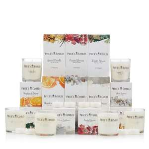 Prices Candles 66 Piece Candle Collection - £21.98 plus £2.95 Postage @ QVC
