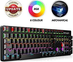 Backlit UK layout mechanical keyboard - Sold by MookaEU / Fulfilled by Amazon - £9.99 Prime / £14.48 non-Prime