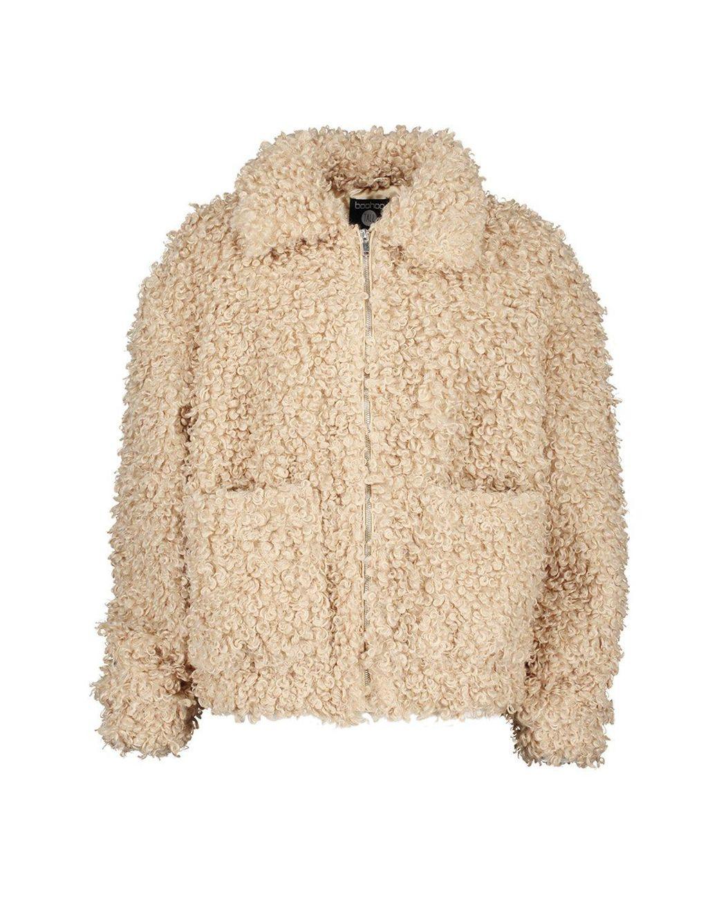 Tall Teddy Faux Fur Bomber £22 @ boohoo (+£3.99 Postage)