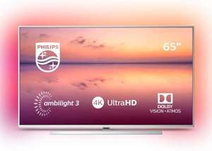 Philips 65PUS6814/12 65-inch 4K UHD Smart TV with Ambilight, HDR 10+, Dolby Vision, Dolby Atmos, Alexa Built-in: Silver £629 at Amazon
