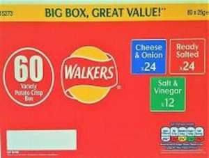 Walkers Variety Crisps 60 Box for £7.18 inc VAT Instore @ Costco