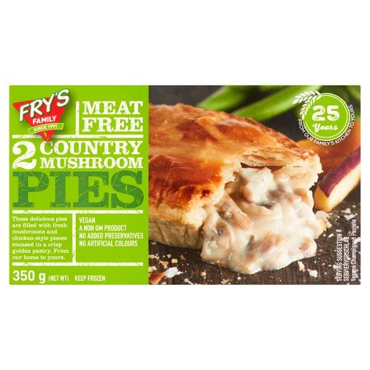 Fry's Meat Free 2 Country Mushroom Pies 350G £2.50 Tesco