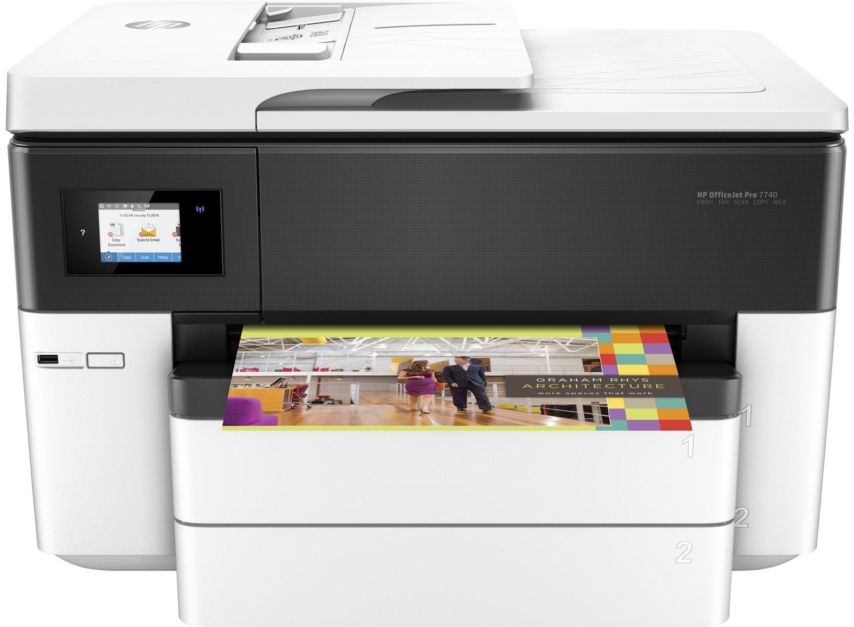 HP OfficeJet Pro 7740 A3 printer £121.32 Printerland + £60 HP cashback