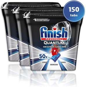 Finish Quantum Ultimate Dishwasher Tablets - 150 Tabs (3 Boxes of 50) £27 / £14.85 Save & Subscribe @ Amazon