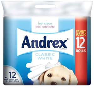 Andrex Classic Clean 12pk reduced to clear £3.33 in-store Tesco Cambridge