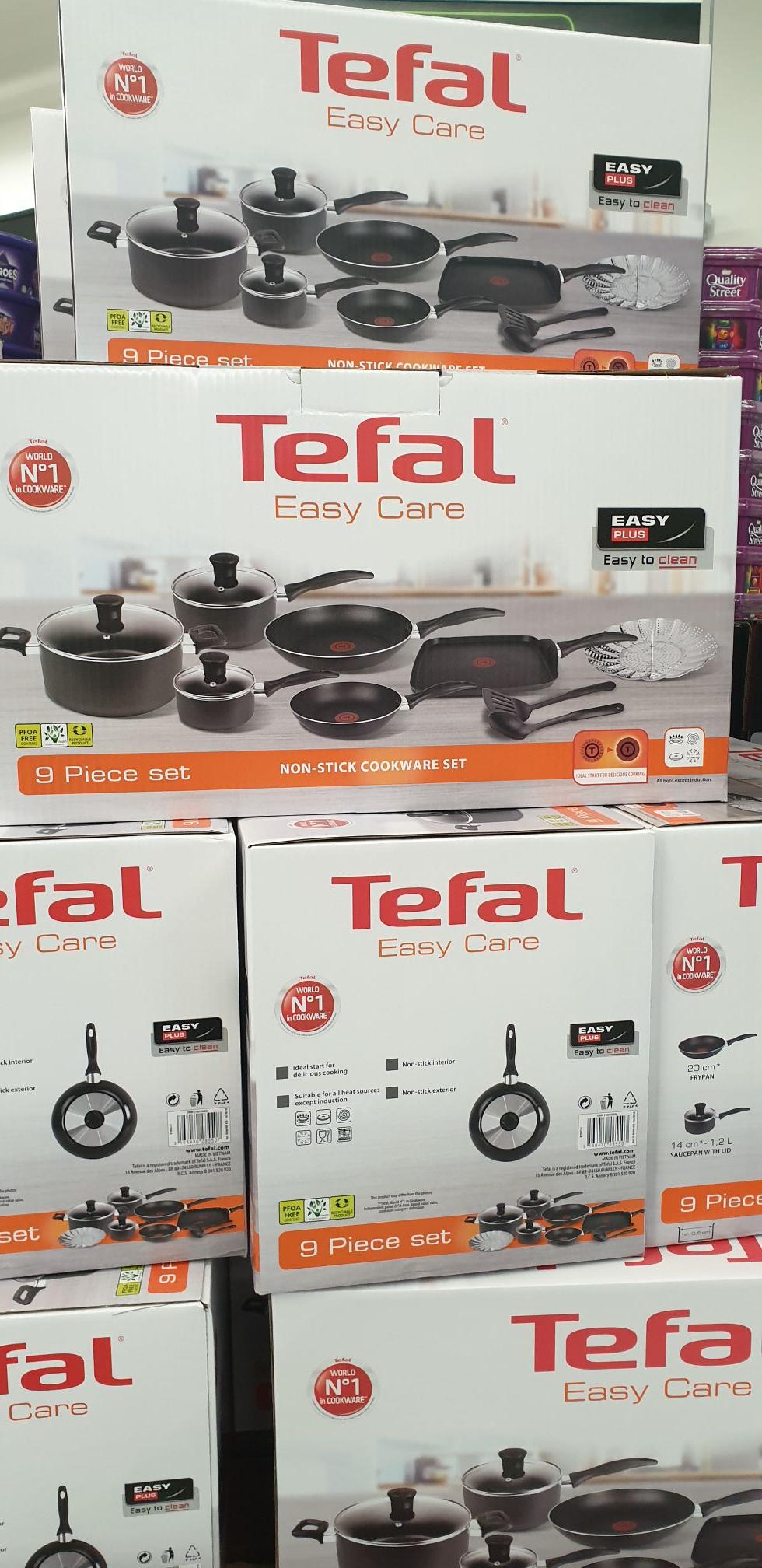 TEFAL Easy Care 9 Piece Pan Set £40 ASDA online / instore