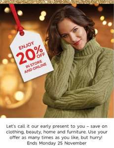 20% off instore & online @ Marks & Spencer - Sparks card - Poss account specific