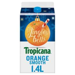 Tropicana 1.4L Orange Juice Smooth, Bits, Apple, Orange & Mango and Tropical now £2 in Asda