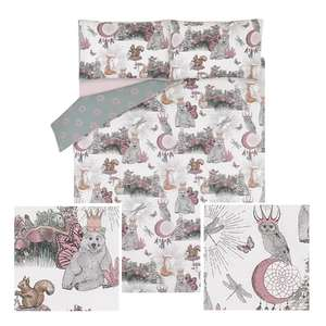 White Magical Animals Easy Care Duvet Sets from £8.50 - £13.60 With Free Click & Collect @ George