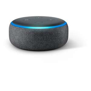 Amazon Echo Dot (3rd Gen) Charcoal or Sandstone £22 @ Tesco