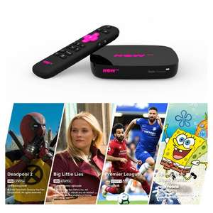 NOW TV Smart Box with 4K + 1 month Entertainment, Sky Cinema, Kids and 1 day Sky Sports Passes £24.50 @ Tesco